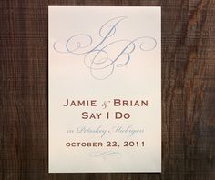 Use a lovely wedding sign such as this to show guests where the ceremony and reception will take place.