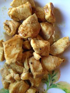 Pollo con curry e salsa di soia