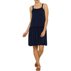 Playful and girlie, the Emerson Sleeveless Drop Waist Dress is perfect for warmer weather. This dress is made from super soft and lightweight jersey, with a flirty drop waist and flat comfortable straps. Team with strappy sandals or low profile sneakers for cute and casual looks all season long. $25