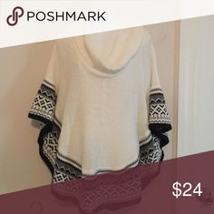 Poncho Cowl neck poncho type sweater. Tag was removed. Sweaters Cowl & Turtlenecks