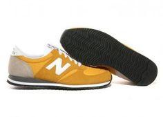 Comprar Unisex New Balance 420 Classics Suede Zapatillas Amarillo Blanco Baratas Online