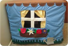 Lots of fun ideas for making a card table playhouse! This one is decorated outside AND inside for double the fun!