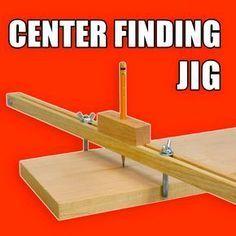 Adjustable Center Finder Jig / Center Marking Jig #woodworking #WoodWorkingTools