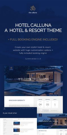 ab6c423f4228cb 32 Best Hotel Web Templates images