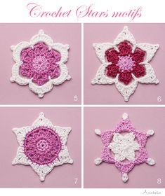 Christmas crochet stars motifs by Anabelia Craft Design