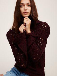 Zhenya Katava || FP Shoot From The Heart Turtleneck Sweater (Plum)