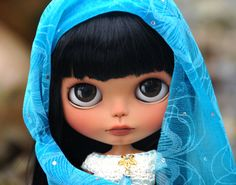 OOAK ETHNIC Custom Blythe Doll - NEELKAMALA - Customized by Zuzana D. ~ Custom Factory Blythe by Zuzana D.