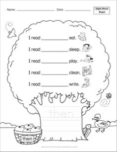 then: Sight Word Trees