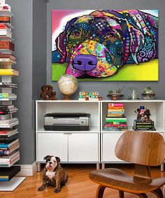 So cute! <3 need for Lily!  #zulily! Savvy Labrador Wrapped Canvas by Dean Russo #zulilyfinds