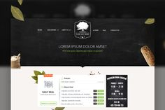 Check out Restauration PSD theme by Marcoo on Creative Market