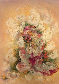 Golo Morgh ( Flower & Bird ) by Allijan Allijanpour