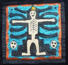 mermaid, la sirene, haitian god, protector of fisherman, priest, hand sewn sequince, bottle the black madona, haiti, voodoo , caribean art, ...