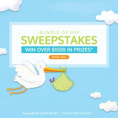"""""""Bundle of Joy!"""" Sweepstakes #WIN OVER $1500 in PRIZES!"""