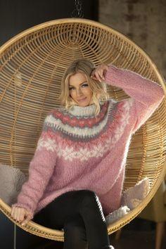 no - Viking - Nova Genser Rosa Knit Fashion, Womens Fashion, Drops Baby, Icelandic Sweaters, Cool Outfits, Fashion Outfits, Sweater Cardigan, Autumn Fashion, Knitting
