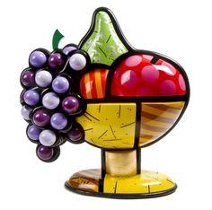 Romero Britto, (Brazilian, b. 1963)   Bowl of Fruit     Naples Winter Auction