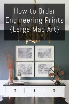 to Order Engineering Prints {Large Map Art How to order engineering prints. This is the perfect way to get inexpensive maps to use for wall art!How to order engineering prints. This is the perfect way to get inexpensive maps to use for wall art! Map Wall Art, Map Art, Large Wall Art, Wall Art Decor, Framed Wall, Large Art Prints, Clock Wall, Living Room Art, Graphic