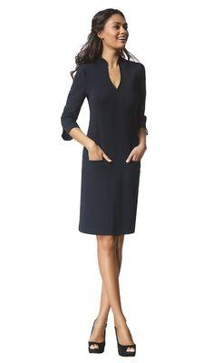 Sade - black - Jersey lycra tunic dress | LaDress