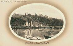 Old postcard of Hall's Harbour, Nova Scotia, Canada #bayoffundy #tallships