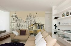 Tram sticker Adding Personality to Modern Interiors: City Never Sleeps Wall Murals by Pixers