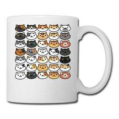 Neko Atsume Many Primary Cats Printing Ceramic Funny Coffee Mugs *** Tried it! Love it! Click the image. : Cat mug