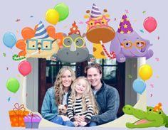 Invitaciones Collage de Cumpleaños para crear Gratis bonitos Collages con tus mejores fotos.
