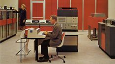 The IBM System 360 mainframe computer in action