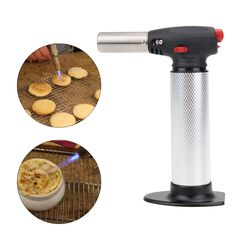 Butane Gas Micro Jet Blow Torch Lighter Welding Burning Iron Heating Blowtorch Cooking Soldering Brazing Refillable Tool