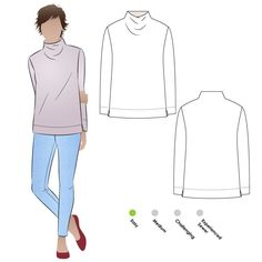From SyyleArc - Funnel neck, wide hem, set-in sleeves