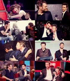 Their bromance is soo cute and funny! Adam Levine and Blake Shelton. Blake Shelton Gwen Stefani, Blake Shelton And Gwen, Funny People Quotes, Funny People Pictures, Country Female Singers, Country Music Singers, Tv Show Music, Film Music Books, The Voice Usa