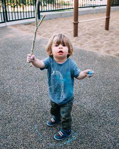 A boy. A stick. Some chalk. #greenspawn