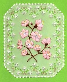 cherry blossom d'après le livre de Anneke Oostmeijer  Pretty Parchment Creations ( juin 2012 )