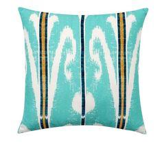 Mona Ikat Indoor/Outdoor Pillow | Pottery Barn