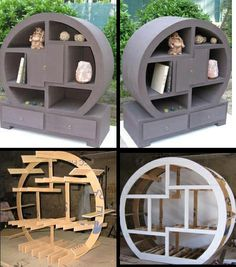 paper mache and cardboard shelf Diy Cardboard Furniture, Cardboard Paper, Cardboard Crafts, Handmade Furniture, Diy Furniture, Paper Mache Diy, Paper Mache Projects, Easy Craft Projects, Paperclay