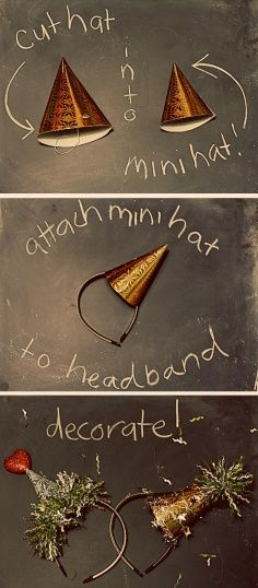 diy Party Hat on a Headband. Birthdays, New Years Eve Parties and More