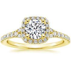 Harmony Diamond Engagement Ring - 18K Yellow Gold