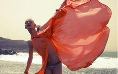 Dress by {www.dvf.com  DVF}     Bikini by {www.misdiasalsol.com   Salinas }    Bracelet by {www.pebblelondon.com/  {www.pebblelondon.com Pebble London} }