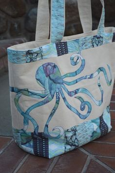 Beach-Bound Tote Bag with Blend Fabric