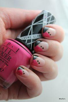 My manicure for work. OPI - Hey Baby / China Glaze - Liquid Leather