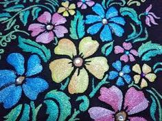 flower Emboss Painting, Types Of Painting, Flowers, Emboss, Royal Icing Flowers, Flower, Florals, Floral, Blossoms