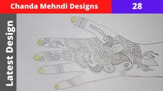 Mehandi Designs Easy, Mehndi Designs Book, Mehndi Patterns, Mehndi Tattoo, Mehndi Art, Henna Mehndi, Fashion Illustration Dresses, Mehndi Brides, Henna Artist