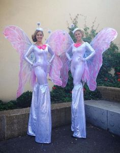 Butterfly Stilt Walkers working in Sutton If you want to book these Butterfly Stil walkers for your event/campaign please contact KruTalent 0207 610 7120 or email the team on bookings@krutalent.com