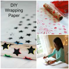DIY Handmade Wrapping Paper