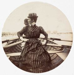 Woman in a rowing boat, about 1890. Collection of National Media Museum/Kodak Museum.