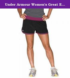 Under Armour Women's Great Escape 3-inch Short (XL). Lightweight woven fabric for superior comfort and breathability. Built-in, odor-fighting brief liner offers extra protection and chafe-free performance. Signature Moisture Transport System wicks sweat away from the body. Anti-odor technology prevents the growth of odor-causing microbes. 360-degree reflectivity adds visibility and safety for training during low-light. Wide elastic waistband ensures a secure, comfortable fit. Interior key...