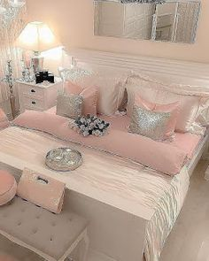 Awesome 36 Unusual Girly Bedroom Decoration Ideas For Your Inspiration. # Bedroom ideas 36 Unusual Girly Bedroom Decoration Ideas For Your Inspiration Cute Bedroom Ideas, Cute Room Decor, Girl Bedroom Designs, Trendy Bedroom, Girls Bedroom, Modern Bedroom, Bedroom Inspiration, Nursery Ideas, Bedroom Ideas For Small Rooms For Teens For Girls