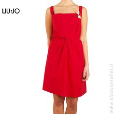 Dress Liu Jo $101,25 #sales -10% off with #Coupon  Dress in cotton, lanyard waist, butterfly brooch removable, soft fit, the model is wearing a size 40