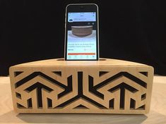 Acoustic Art by Jay Roberts, Phone Amplifier, Passive Amp, iPhone Speaker, Smartphone Speaker, Wooden Speaker, iPhone Dock, Passive Speaker
