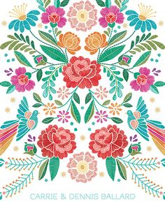 floral stitches - wedding planner #ErinCondren #floral #weddingplanner #planner