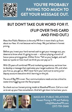 You're Probably Paying Too Much To Get Your Message Out - Mass Ave Public Relations