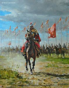 Polish Winged Hussar preparing to charge Historical Painting, Ancient Warriors, Polish Winged Hussars, Ancient, Military Art, Painting, Historical Warriors, War Art, Historical Fantasy